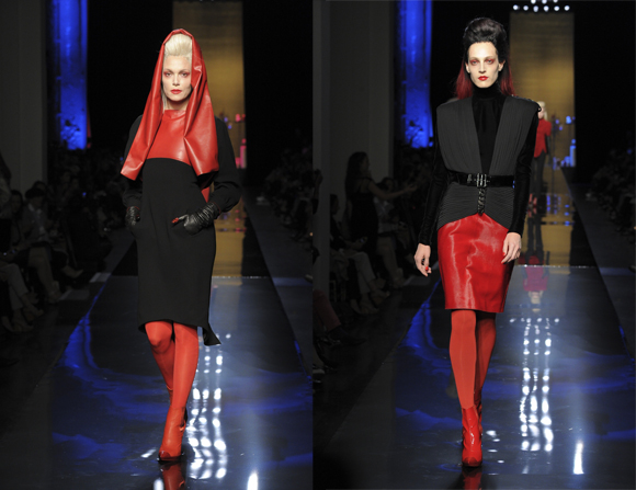 Jean Paul Gaultier Haute Couture 2014-2015 black and red
