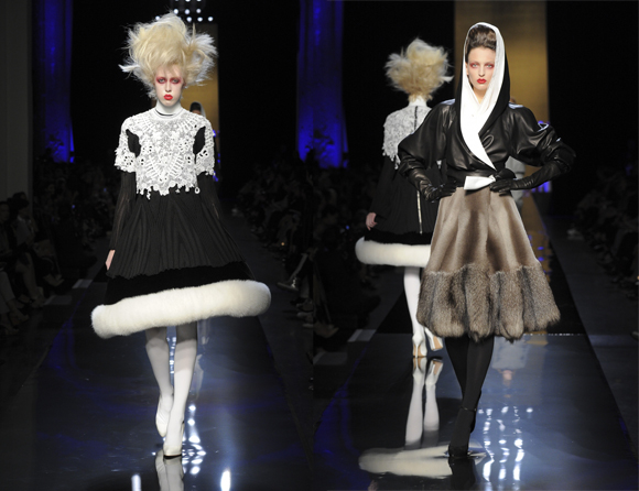 Jean Paul Gaultier Haute Couture 2014-2015 black and white