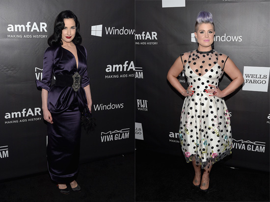 Dita fon Tiz and Kelly Osbourne