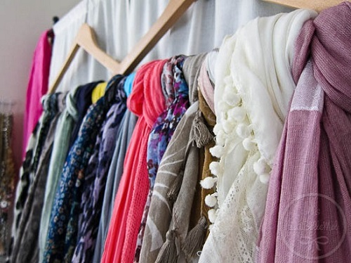 DIY SCARVES ORGANIZING HACKS 2