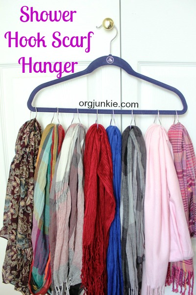 DIY SCARVES ORGANIZING HACKS 3