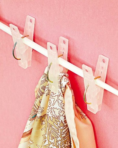 DIY SCARVES ORGANIZING HACKS 5